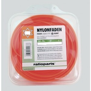 Pjovimo gija Nylon line (1,6 mm/15 m; raudona, 6-briaunė)